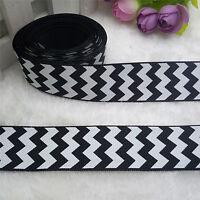 NEW 5 Yards 1'' 25mm Stripe Printed Grosgrain Ribbon Hair Bow DIY U Pick YG