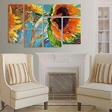Trademark Fine Art Wall Decor Sunflower  Richard Wallich 6 Panel Set 3.9 x 2.3'