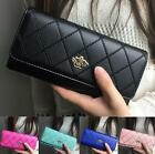 Holder Lady Women Handbag Clutch Wallet Purse Long PU Card Leather