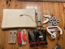 Nintendo Wii Accessories Bundle 2 Nunchucks, Controller Grips, Fit Plus Platform