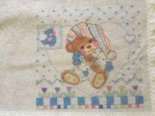 "Riegel TEDDY BEDDY BEAR Baby BLANKET by Riegel in USA 36""x45"""