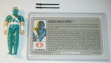 GI Joe 1992 Cobra Ninja Viper Green Storm Shadow w/ Reproduction File Card *READ