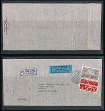SWITZERLAND 1937 AIRMAILS 50c + 20c + HANDSTAMP + ETIQUETTE + AIR POSTMARK