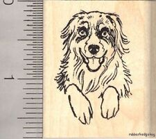 Australian Shepherd Dog rubber stamp E12105 WM Puppy