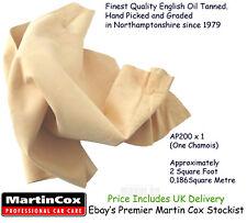 Martin Cox Genuine Sheepskin Quality Cod Oil Tanned Chamois Shammy Leather 2sqft