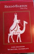 Reed Barton-King Melchior 1st Nativity Silver Plate Christmas Ornament - New