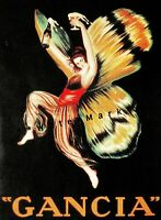 Gancia Gran Spumante 1922 Vintage Poster Print Retro Style Cappiello Art