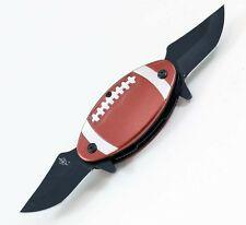 American Football Spring Assist Opening Dual Blade Folding Knife with Belt Clip