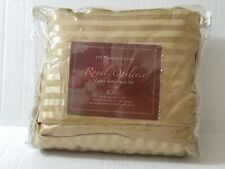 Royal Opulence Gold Brown Striped King Luxury Satin Sheet Set 230 thread Count