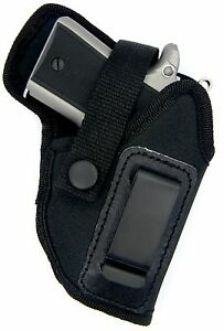 Right Hand OWB Belt or IWB Inside Pants Holster for SMALL AUTOS - Choose Gun