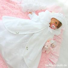 Taufkleid Laura weiß mit Hut und Mantel,TaufeTaufkleider,Taufkleidung 68,74,80 ♥