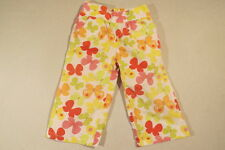 """Gymboree """"Social Butterfly"""" Multi Color Butterfly Print White Pants, 2T"""