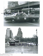 NYC BUSES NYPD 14th Pct POLICE CAR Wash Sq Park Greenwich Vlg 2 PHOTOS c1950-60s