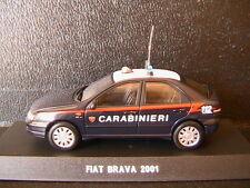 FIAT BRAVA SX CARABINIERI 112 2001DEAGOSTINI 1/43 ITALY BERLINA BERLINE BLUE