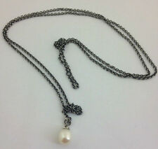 """Authentic Trollbeads Sterling Silver Fantasy Pearl Necklace, 31.5"""", New 54080"""