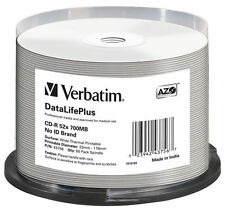 50 Verbatim Professional Rohlinge CD-R full printable Thermo 700MB 52x Spindel