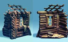 THE COLLECTORS SHOWCASE LOG CABIN TERRAIN ACCESSORY CS00224 EAST FRONT DACHA MIB