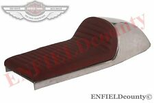 BENELLI MOJAVE SEAT CHERRY RED LEATHERITE ALLOY CAFE RACER 260 360 BIKE@ECspares