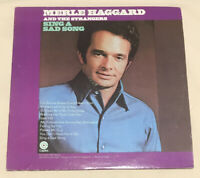 """Merle Haggard And The Strangers: Sing A Sad Song 12"""" Vinyl Record LP - EX SF-708"""