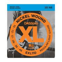 D'Addario EXL110 Electric Guitar Strings. Regular Light Gauge 10-13-17-26-36-46