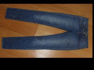 """KENJI"" Skinny/Slim Distressed Look Jeans, Size 10"