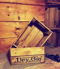 Rustic And Vintage Wooden Dry Gin Crate - Box Storage