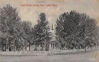 C12/ Deer Lodge Montana Mt Postcard c1910 Court House Square