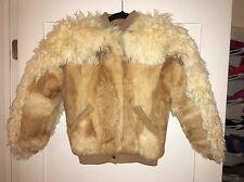 BEAUTIFUL, GENUINE rabbit fur & curly lamb coat..kids size 8..IN EXCELLENT COND!
