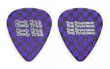 Cheap Trick Tom Petersson Purple Black Checkerboard Guitar Pick - 2012 Tour