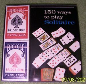 """NEW Playing Card Set """"150 ways to play Solitaire"""""""