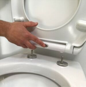 Tavistock Quick Release Soft Close Toilet Seat Stainless Steel Hinges Universal
