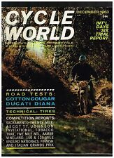 CYCLE WORLD DECEMBER 1963 SEE CONTENTS IN SECOND PHOTO