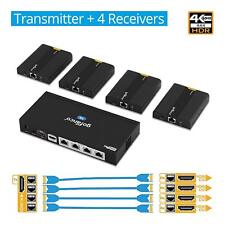 gofanco 4-Port HDMI 2.0 Extender/Splitter over CAT6 w/ Loopout (HDExt4K-4P)