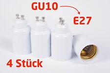 4 Stück Lampensockel Adapter GU10 auf E27 Sockel Fassung Leuchtmittel  [#1094]