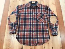 Vintage Pendleton 100% Wool Button Up Long Sleeve Plaid Flannel Shirt Medium USA