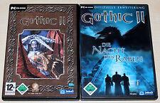 Gothic II 2 & Add on-la noche del cuervos-Gold Edition-PC juego de roles