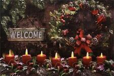 Warm Winter Welcome  Led wall canvas w/Timer