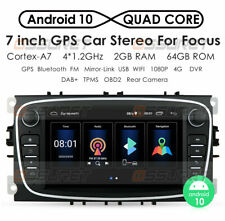 "7"" Android 10 Car Stereo Radio GPS Navigation 2GB+64GB For Ford Focus 2008-2011"