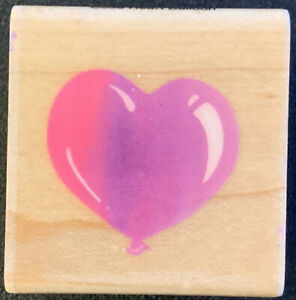 Stampendous Heart Balloon Rubber Stamp