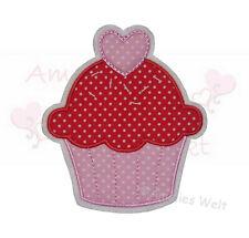 XL Muffin Aufbügler Aufnäher Bügelbild Patch Sticker obst gemüse rosa rot