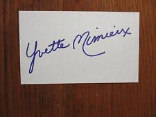 "YVETTE   MIMIEUX   (""Dr.  Kildare"")  Signed  3  x  5   Index   Card"