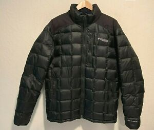 Columbia Omni Shield Down Insulated Puffer Jacket Size LARGE Men's Zip Pockets