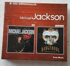 Michael Jackson rare  2CD Officiel Box Bad Dangerous Spécial Édition