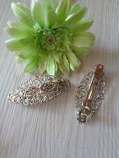1  Haarspange antik silber Blumen