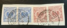 1890s German China Post Office forerunner stamps on Cover Piece Shanghai cancel