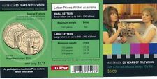 Australia stamp booklet - 50 Years of Television - KATH & KIM...Fast Post