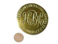 Vintage Horse Brass E. Lee & Sons Contractors Bermondsey HB&C #HB111