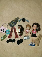 "Bratz Babies Lil Angelz Brunette Doll 3"" Tall lot with clothes"