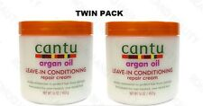 Cantu Argan Oil Leave in Conditioner Repair Creme 16oz each *Twin Pack*
