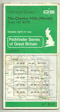 Ordnance Survey map 1:25000 Cheviot Hills North and Central - 2 maps